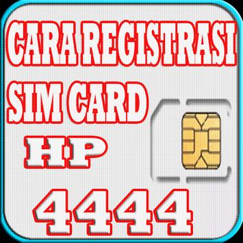 Cara Registrasi Sim Card HP apk screenshot