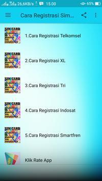 Cara Registrasi Sim Card HP screenshot 2