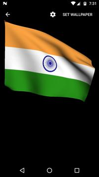 India Flag Live Wallpapers poster