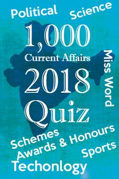 India Current Affairs 2018 Quiz poster