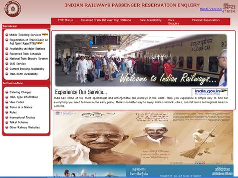 Indian Railway Train Enquiry poster