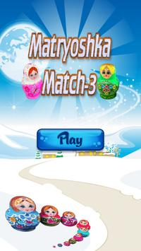 Matryoshka match 3, new puzzle game free offline poster