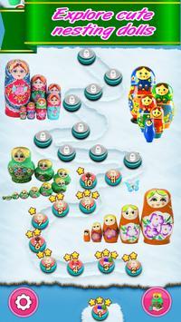 Matryoshka match 3, new puzzle game free offline screenshot 1