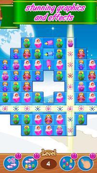 Matryoshka classic match 3 puzzle free games fun screenshot 2