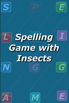 Insects Spelling Game poster
