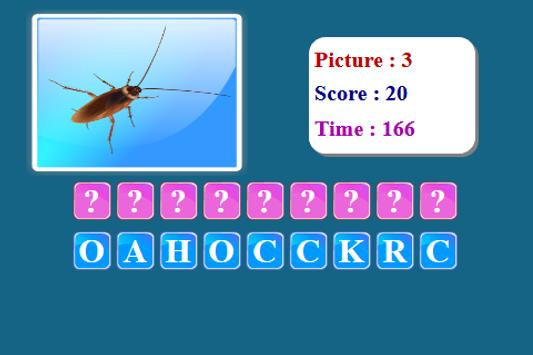Insects Spelling Game screenshot 14