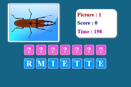 Insects Spelling Game screenshot 2