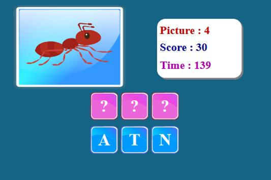 Insects Spelling Game screenshot 7
