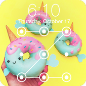 Magical Unicorn Donuts Sweet Bakery Lock Security icon