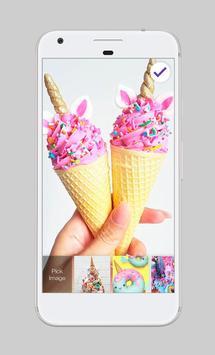 Magical Unicorn Donuts Sweet Bakery Lock Security apk screenshot