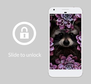 Cute Thin Violet Flowers Girl AppLock Security poster