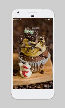 Chocolate Tare Real Cake Cream AppLock Security poster