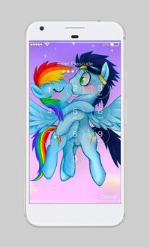 Pony Love Valentine Rainbow AppLock Security screenshot 1