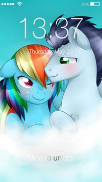 Pony Love Valentine Rainbow AppLock Security screenshot 4