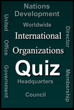 International Organizations Quiz poster