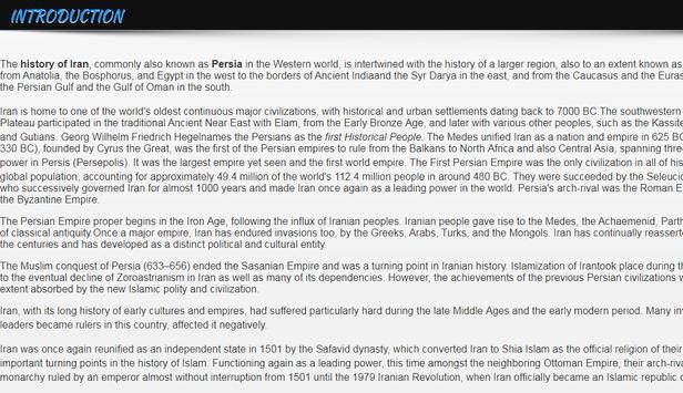 History of Iran apk screenshot