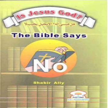 Is Jesus God poster