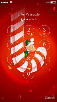 Candy Cane Xmas App Lock apk screenshot