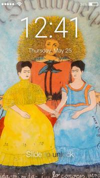 Frida Kahlo Mexico Lock Screen apk screenshot