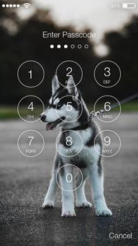 Husky Puppy Dog Lock App screenshot 1