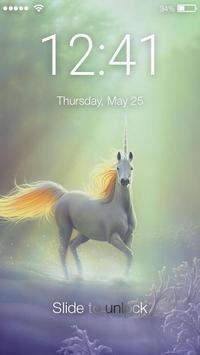 Unicorn Fairy Colorfull Horse AppLock poster