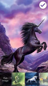 Unicorn Fairy Colorfull Horse AppLock apk screenshot