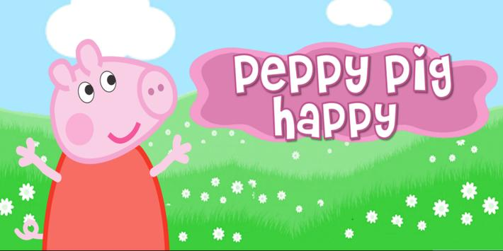 Run Pig Peppy Happy poster