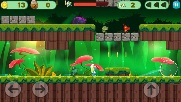 Smurf World run adventure apk screenshot
