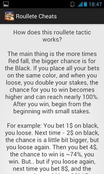 Roulette Cheats Free screenshot 1