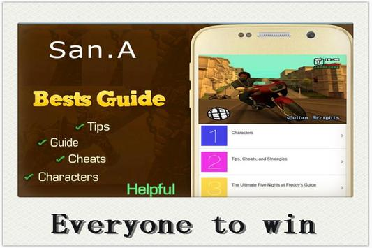 Tips for GTA SanAndreas apk screenshot