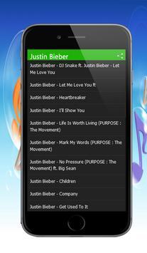 Justin Bieber Hits Songs apk screenshot