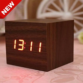An antique wooden clock collection icon