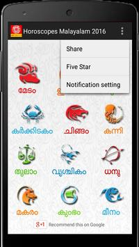 Malayalam Horoscopes 2018Daily apk screenshot