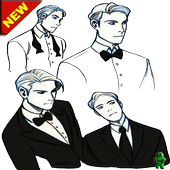 Best Men's suits sketch icon