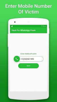 🎃 Hack Whatsapp 2018 🎃 Prank screenshot 1