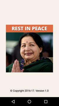 Jayalalithaa RIP Rest In Peace poster