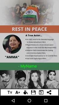 Jayalalithaa RIP Rest In Peace apk screenshot