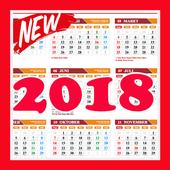 Kalender Tahun 2018 icon