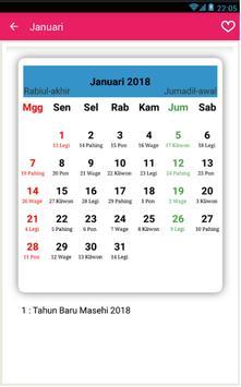 Kalender Tahun 2018 apk screenshot