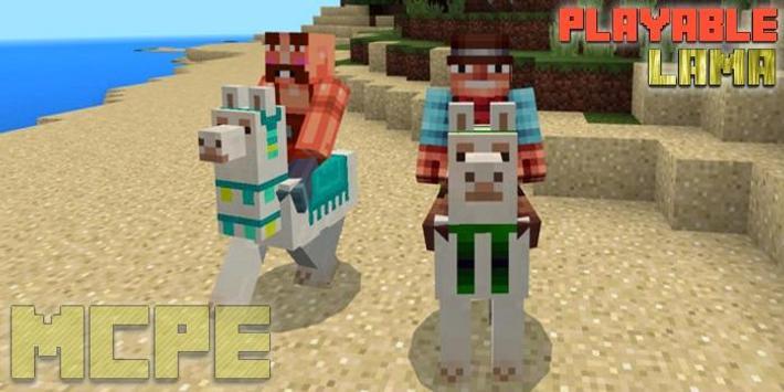 Playable Lama Add-on MCPE poster
