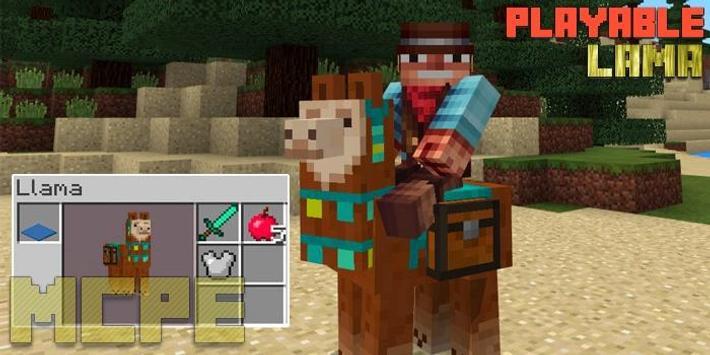 Playable Lama Add-on MCPE screenshot 1