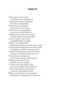 Psalms 51 poster