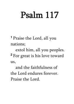Psalms 117 poster