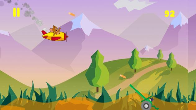 JERRY fly  and TOM chase game screenshot 1