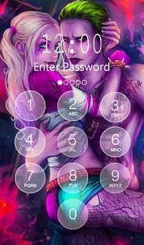 Joker and Harley Lock Screen apk screenshot