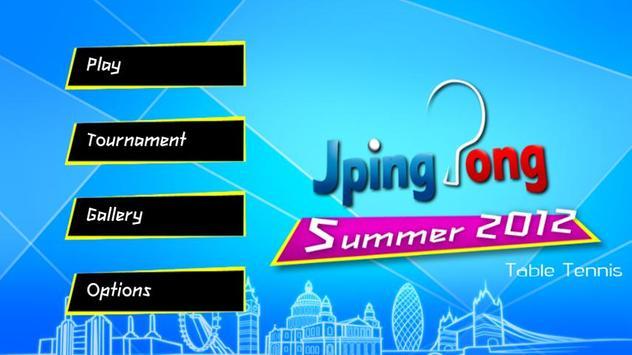JPingPong Summer 2012 poster
