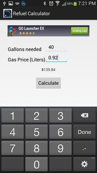 Refueling Calculator apk screenshot