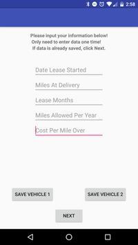 Lease Mileage Tracker screenshot 1