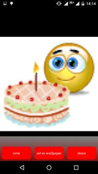Birthday Emoticons screenshot 3