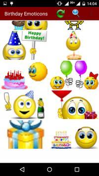 Birthday Emoticons poster